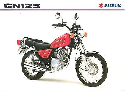 Suzuki GN125 GB Sales Brochure GN125S