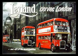 -A3 Size- London Buses Leyland British Transport Poster Art Print #07