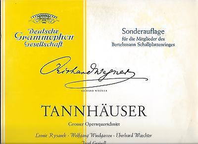 WAGNER TANNHÄUSER RYSANEK WINDGASSEN WAECHTER FERDINAND LEITNER Vinyl LP