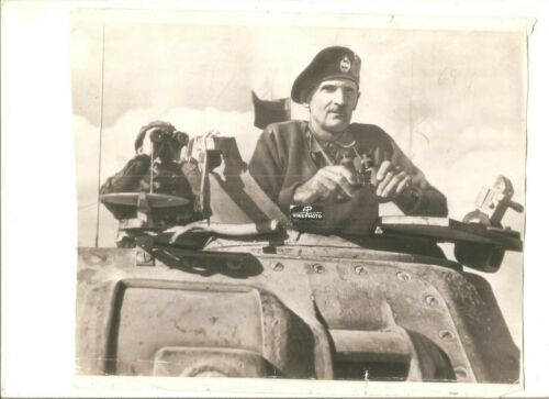 Original classic photo Bernard Montgomery in Africa, 1942-43