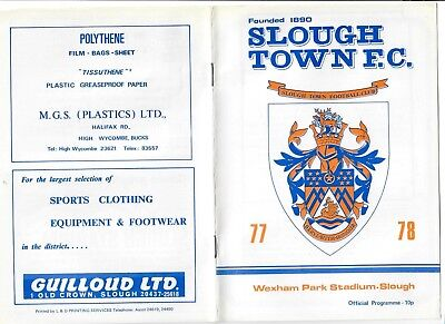 Slough Town v Hitchin Town - 15/10/1977