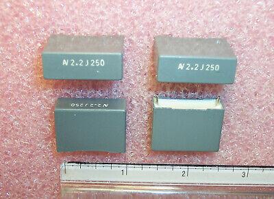 Qty 20 2.2uf 250v 5 Metallized Film Capacitors R60in4220j Arcotronics