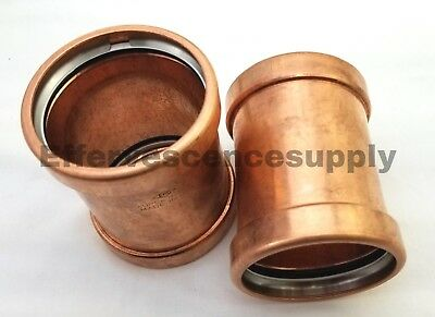 3 Press Xl-c Copper Couplings - No-stop - Made In Usa