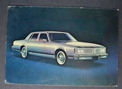 1980 Oldsmobile Delta 88 Royale Large Postcard Brochure Nice Original -