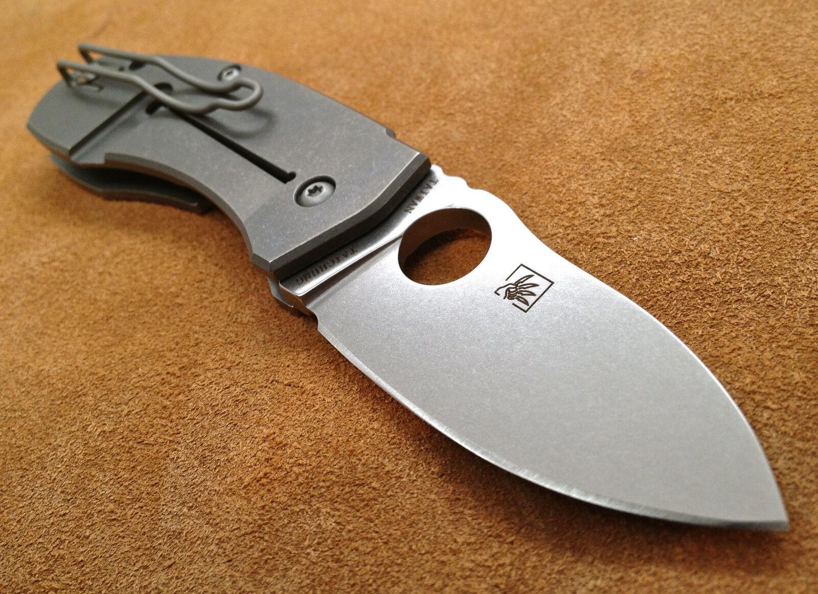 Spyderco C158TIP Techno ~  Marcin Slysz Plain Edge Folding
