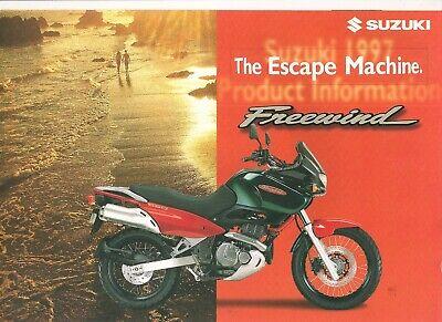 Suzuki XF650 Freewind World sales brochure XF650V 1997