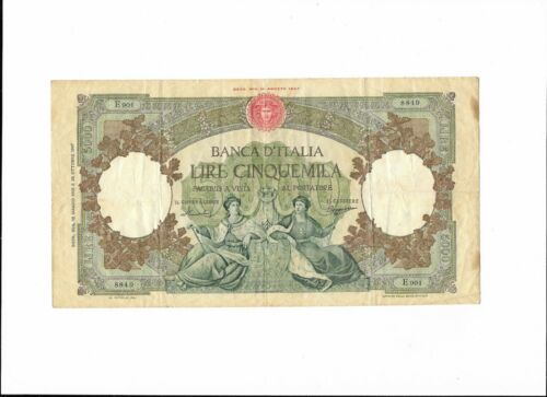 ITALY  - 5000 LIRE, 12.05.1960 (1947 - 1963), scarce note, no tears - about VF