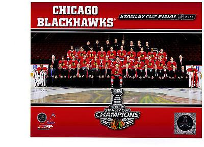 Chicago Blackhawks 2013 Stanley Cup Champions Team Sit Down 8X10 Photo Nhl
