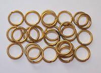 British Army:,batch Of 24x Brass Split Rings,(12mm, Denim Bds, Wla Overalls Etc) -  - ebay.co.uk