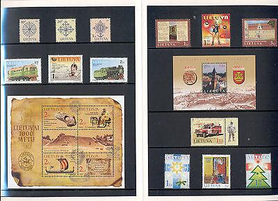 Lithuania - Year Set 2002 MNH**