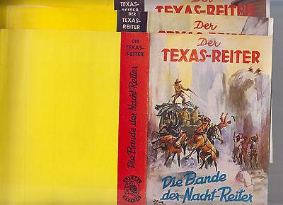 6 verschiedene Schutzumschläge von Leihbüchern 3x Texas-Reiter 3x Rex Carter