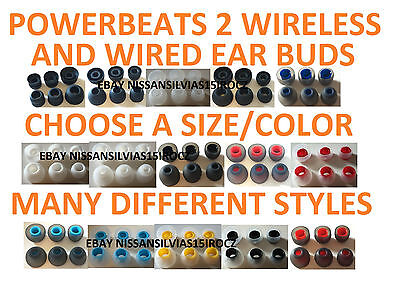 Replacement Ear Buds Tips Sets Beats By Dre Powerbeats 3 2 Wireless -Variety