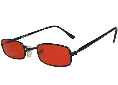 Extra SMALL Costume Gothic Vampire Party Glasses Red (Red Tinted Glasses)