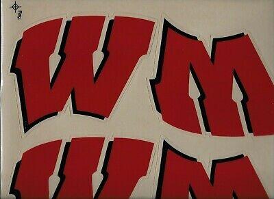 WISCONSIN BADGERS NCAA Football Helmet Decals / -