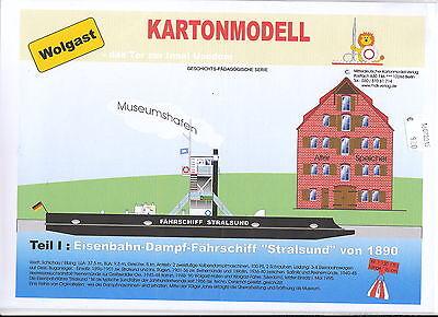 MDK-Verlag 7001 - Kartonmodell - Eisenbahnfährschiff Stralsund 1890 - 1:250