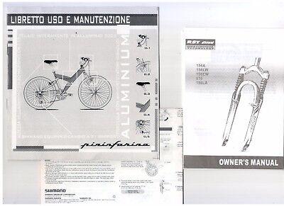 Bicicletta Pieghevole Pininfarina 26.Usato Libretto Istruzioni Bicicletta Pininfarina