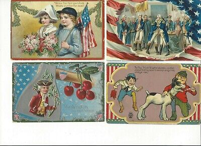LOT of 8 ANTIQUE EARLY 1900s Postcards      *  U. S. A. PATRIOTIC *    (0729b)