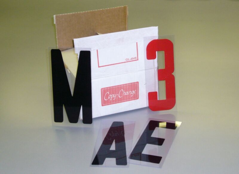 """NEW Box Set Changeable Sign Letters 8"""" on 9"""" Back 300ct"""