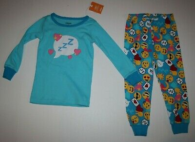 Gymboree Mädchen 2t (Neu Gymboree Gymmies 2-tlg Pyjama Mädchen 2t Jahr Nwt Schlafanzüge Emoji Föhlich)