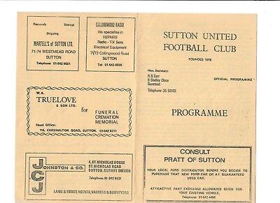 Sutton United v Ilford - 05/03/1975 ??