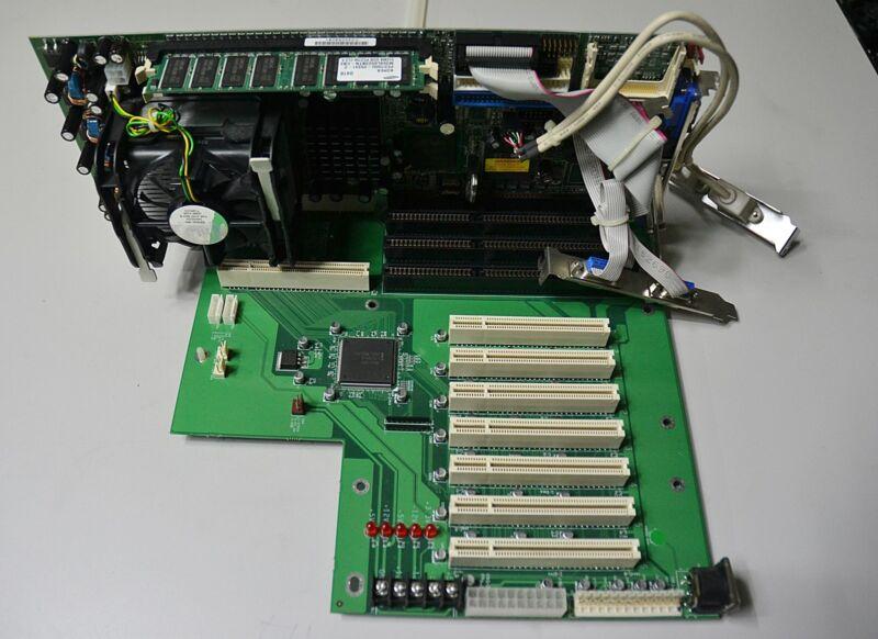 IEI ROCKY-4786EVG V1.0 MAIN BOARD  &PX-14S5 Backplane Board