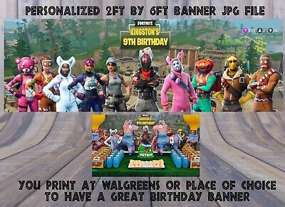 Customized Banner For Birthday (fortnite birthday banner! Customized,  Fortnite birthday supplies, you)
