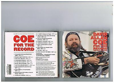 DAVID ALLAN COE CD. THE VERY BEST OF..GREATEST HITS . FIRST TEN