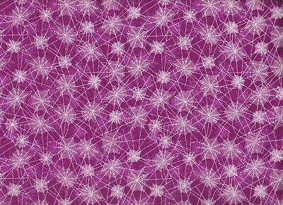 BTY Riley Blake SPIDERWEBS on Purple Print 100% Cotton Quilt Fabric by Yard