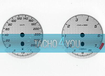 Tachoscheibe für BMW 3er E90 /& 5er E60 Diesel 260 kmh km//h M3 M5 526505 Carbon