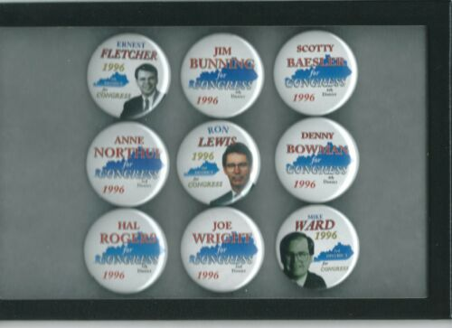 Group Lot Kentucky State Political Campaign Buttons Pins