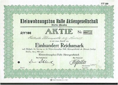 KLEINWOHNUNGSBAU HALLE AG, HALLE 1938