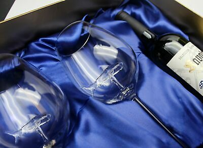 Special Edition Two Shark Wine Glasses™ in a Beautiful Gift Box w/ opening for a