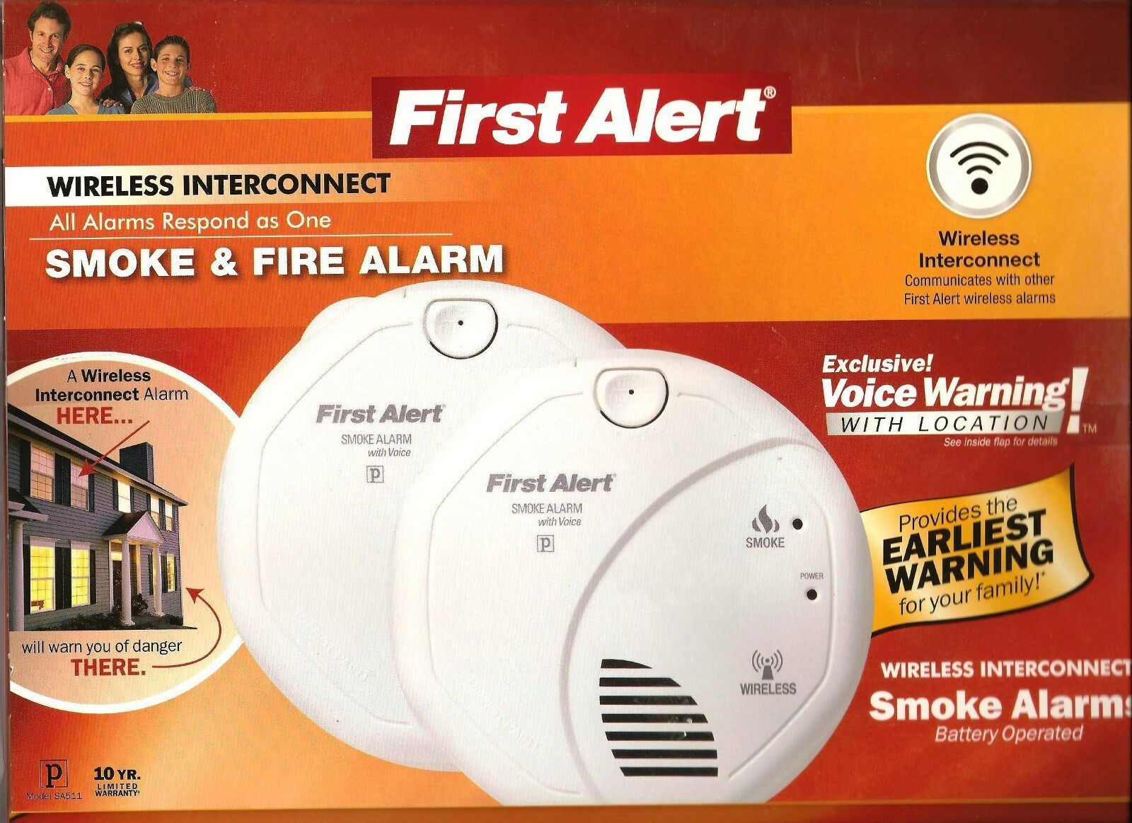 First Alert Onelink Wireless Battery Operated Smoke Alarm Wi