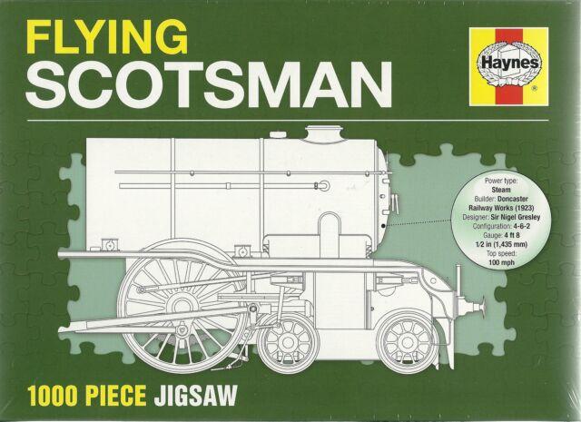 FLYING SCOTSMAN - 1000 PIECE HAYNES TRAIN JIGSAW PUZZLE