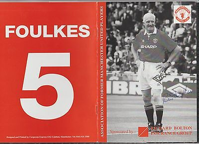 Signed Manchester United Reunion Dinner Menu 21st 1997 Honours Bill Foulkes
