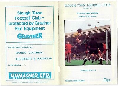 Slough Town v Wycombe Wanderers - 24/09/1974