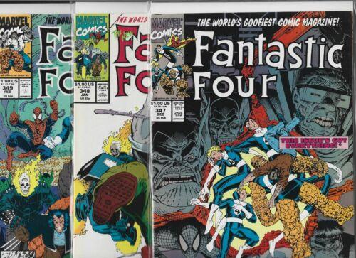 Fantastic Four #347, #348 & #349   Lot of 3 (1990/1991, Marvel Comics)