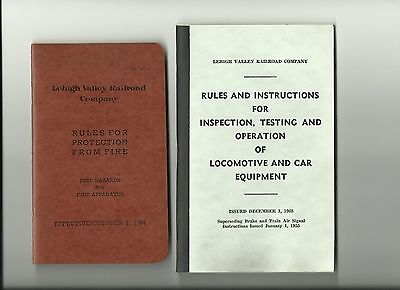 Lehigh Valley Railroad Co. Rules and Instructions  Booklets 1944 & 1955/issues