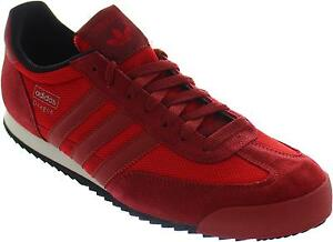 Adidas-Originals-Dragon-Men-039-s-Red-Lace-Up-Jogger-Style-Casual-Trainers-New