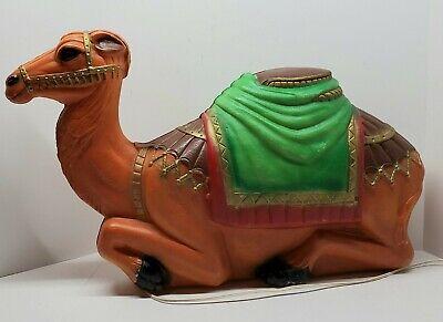 "Vintage Empire Camel 28"" Blow Mold Christmas Nativity Manger Lighted"