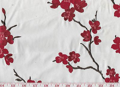 Ткань Overstock First Quality Red Embroidered