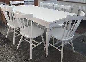 Washington Country Chic Matte White 7pc Dining Series Punchbowl Canterbury Area Preview