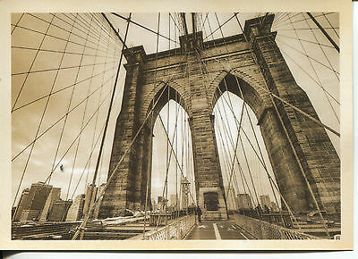 POST CARD OF THE BROOKLYN BRIDGE IN NEW YORK CITY