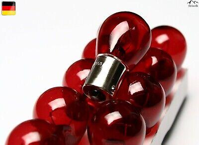 10x PR21W 12V BA15s Rot Halogen Lampe E-geprüft gebraucht kaufen  Frankfurt