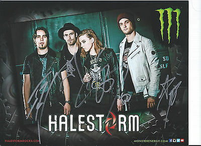 Halestorm Signed RP 8x10 Photo. All 4! Ships ASAP!