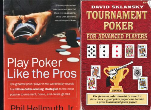 (22) POKER INSTRUCTION BOOKS AND PAMPHLETS, SKLANSKY, HELLMUTH, MALMUTH, CARO