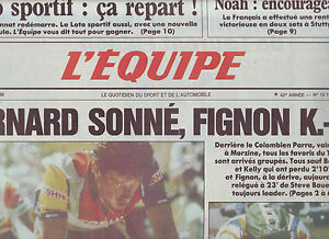 journal l 39 quipe 14 07 88 cyclisme tour de france 88 parra bernard ebay. Black Bedroom Furniture Sets. Home Design Ideas