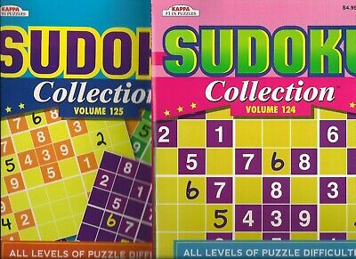 Sudoku Collection Books Set of 2 All Levels Kappa Puzzles