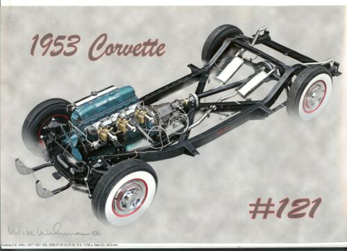 Mike Wehrman Photo Art - Smoking - 1953 Corvette Chassis #121