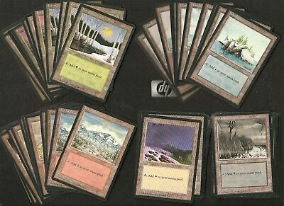 MTG x60 revised basic land card playset all 15 Good condition as pics.vintage